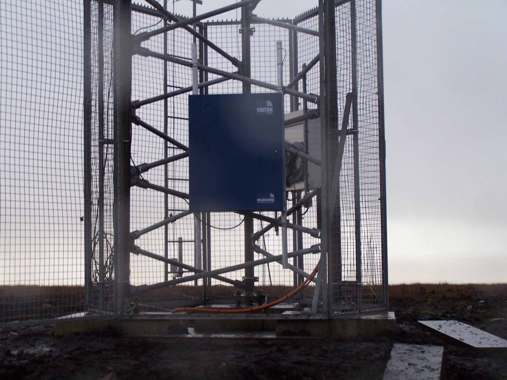 Brabourne Triton radio system deployed at Scoutmoor wind farm