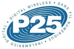 P25 public safety radio system logo