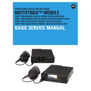 Two way radio operation, installation, technical and user manuals