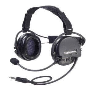 Portable 2 way radio lightweight and ear defender style headsets