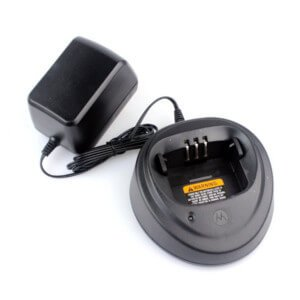 Desktop AC and DC 2 way radio battery chargers