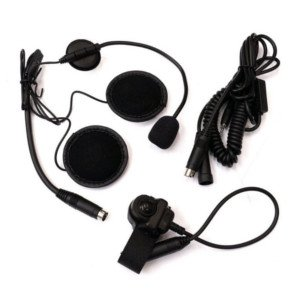 Motorcycle headset helmet kit for Midland two way radio