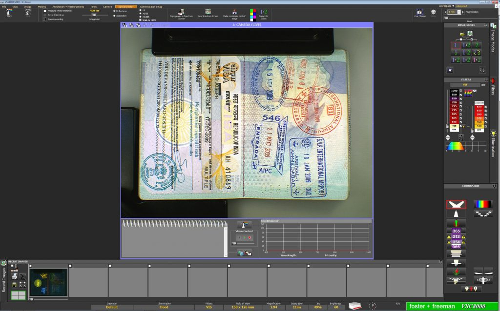 passport in document scanner