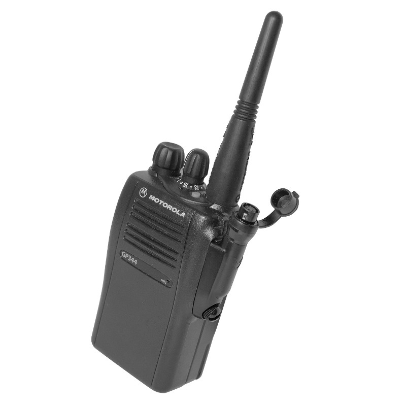 Motorola GP344 with accessory connector for quick change audio accessory