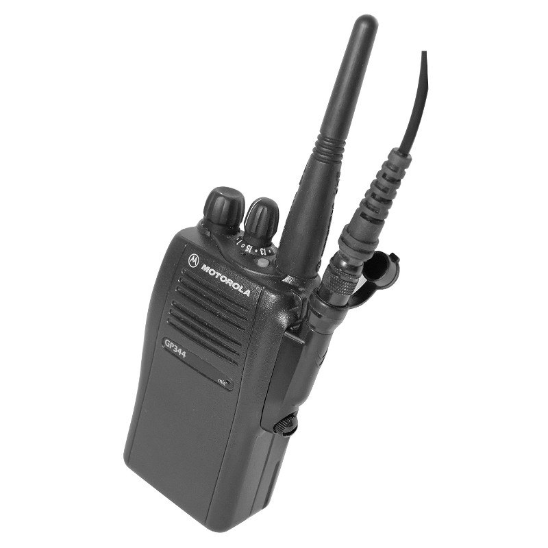 Motorola GP344 With quick release hirose connector attached