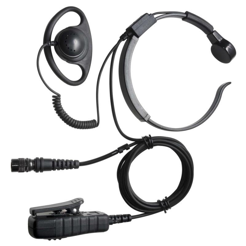 Throat microphone/soft rubber D shape earphone PTT